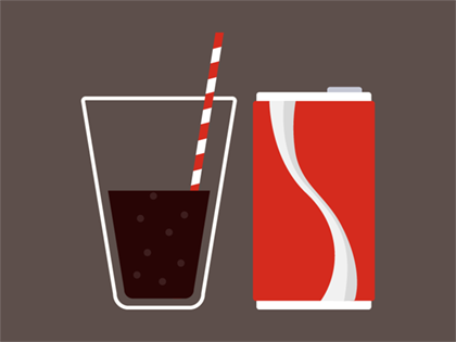 Cup of non diet soda